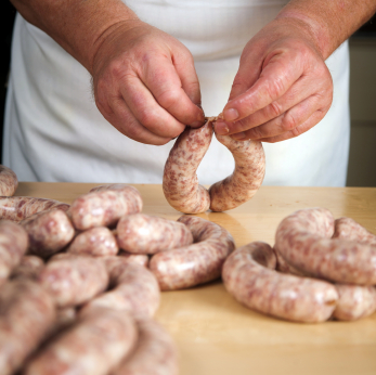 Sausage Making, Licensed by istockphoto