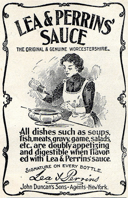 Lea & Perrins' Worstershire Sauce Advertisement, United States, c. 1900