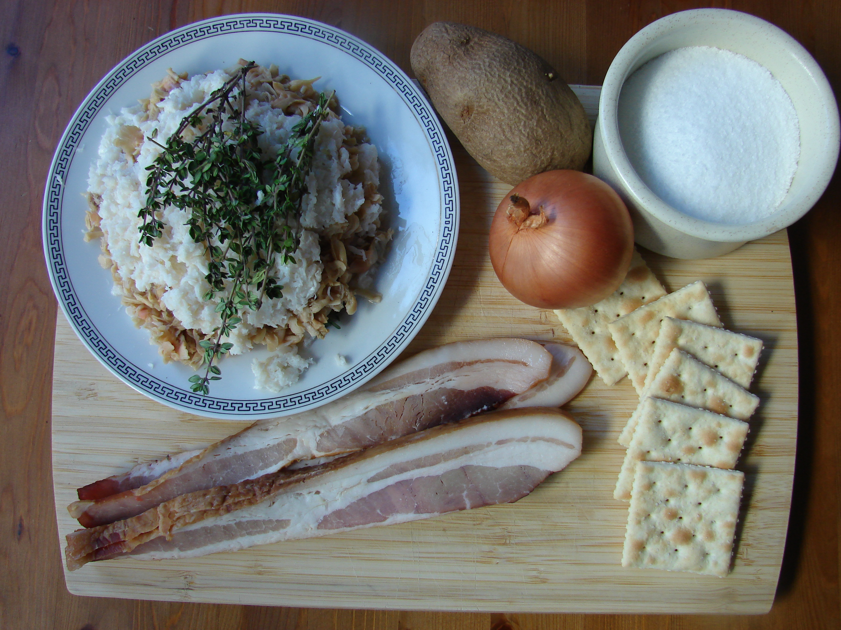Fish Chowder Ingredients, Photo: Eric Colleary