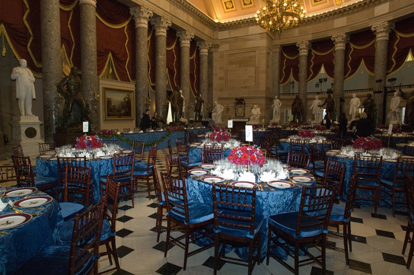 2009 Inaugural Lunch, Statuary Hall - Photo: US Senate