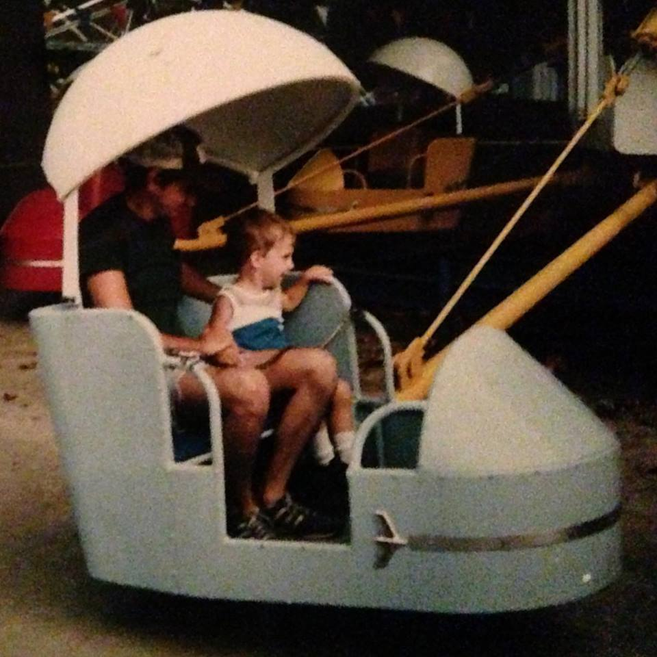 Dad and Me, Riding the Rides at a small local amusement park