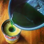 Pour gelatin in can