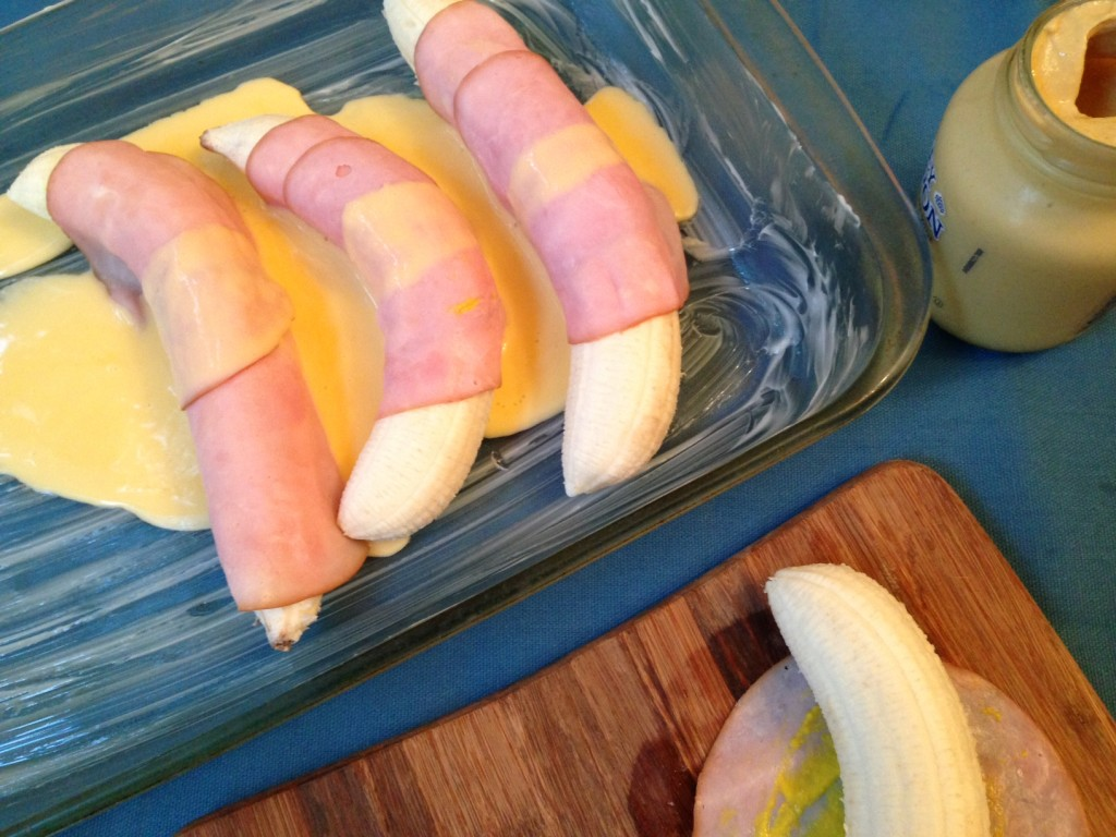 Ham and Banana Rolls