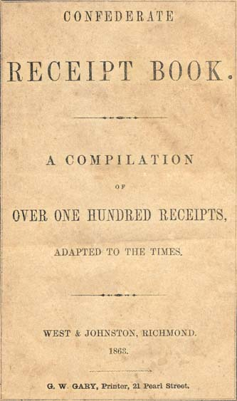 Confederate Receipt Book