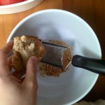 Use a grater to make bread crumbs