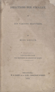 Directions for Cookery by Eliza Leslie