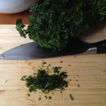 Mince parsley