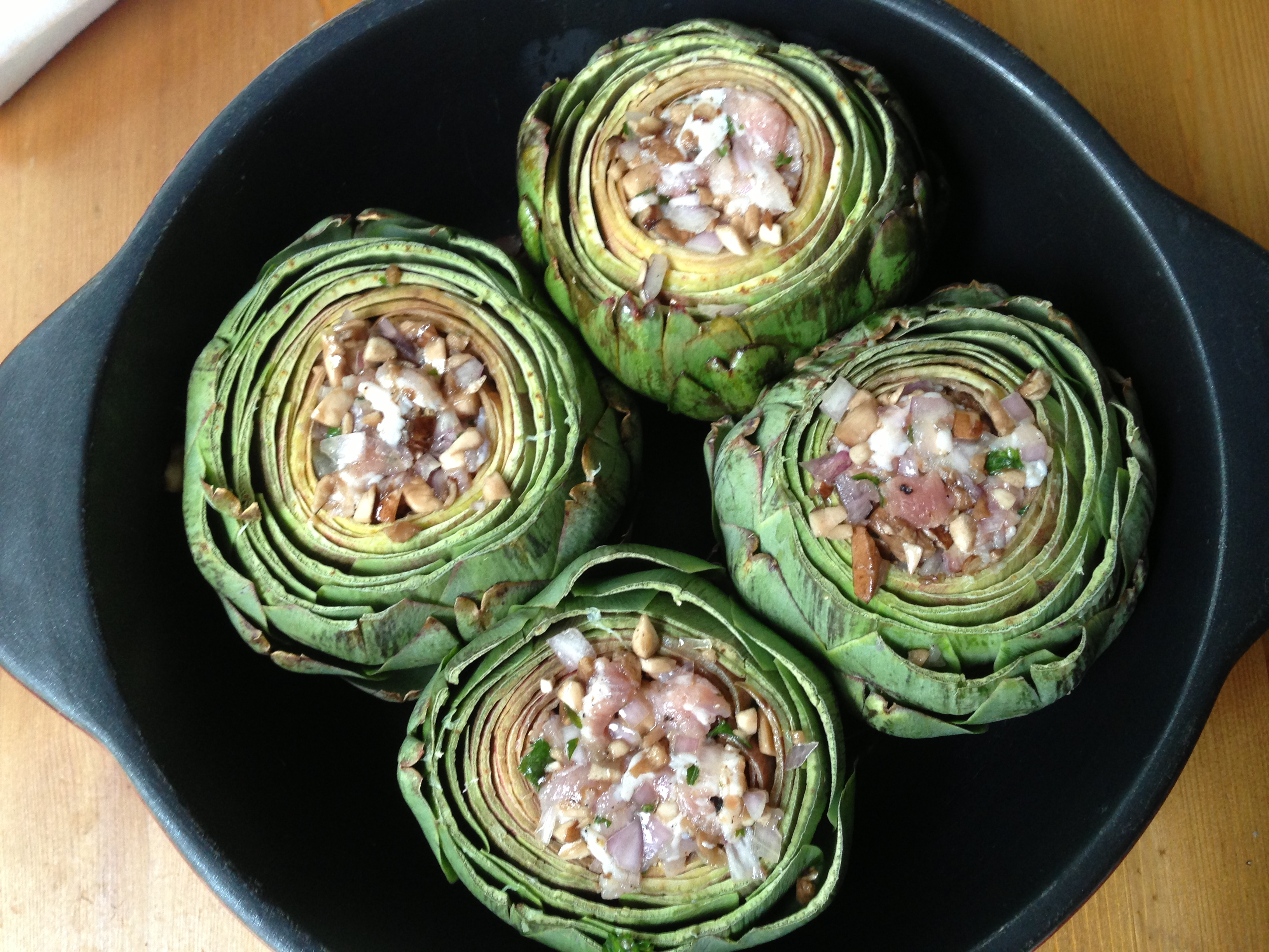 Filled artichokes